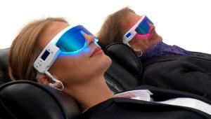 collaborateurs appréciant un programme de relaxation lunettes PSIO